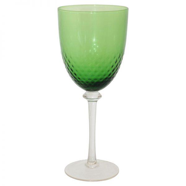 GREEN PEBBLE WINE GLASS