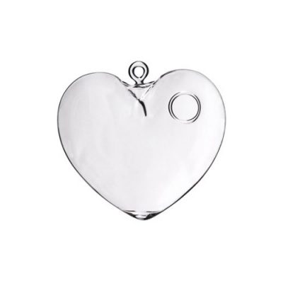 CLEAR HANGING HEART 12.5cm
