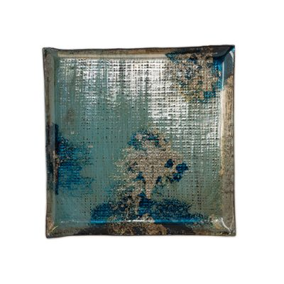 ABSTRACT SKY SQUARE PLATE 23X23CM