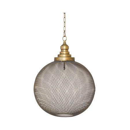 GOLD MESH HANGING LAMP 39X50CM