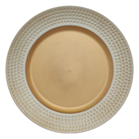 GOLD/IVORY UNDERPLATE 33CM