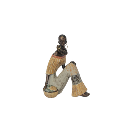 AFRICAN LADY SEATED CORN 24CM