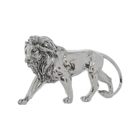 ANTIQUE SILVER LION 43X23CM