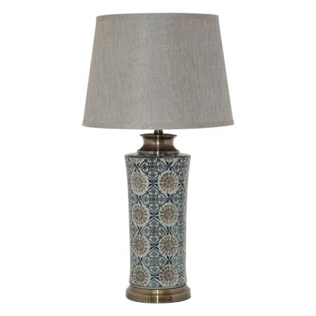 AMARA VASE LAMP/BEIGE SHADE 73CM
