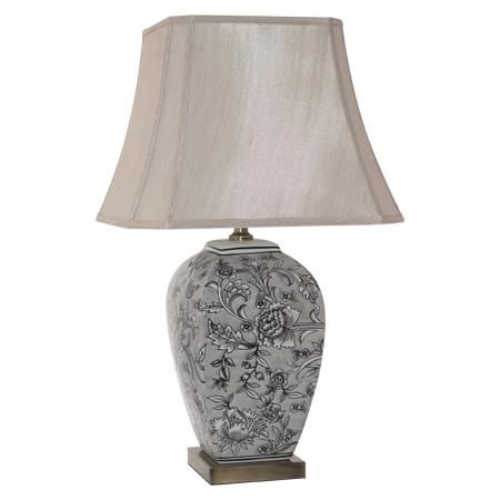 VASE LAMP BRONZE BASE/SHADE 68CM