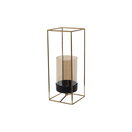 ABBOT GOLD CANDLE HOLDER 25CM