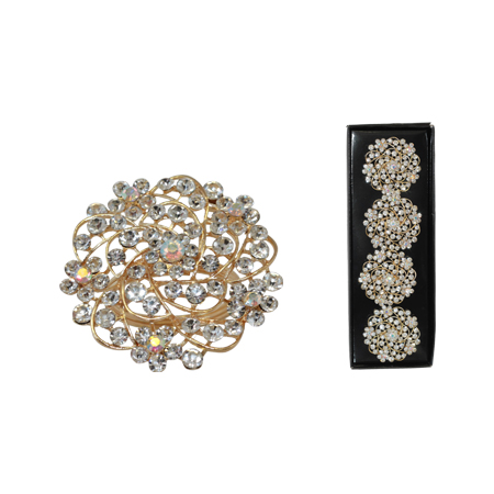 GOLD DIAMOND NAPKIN RING SET/4