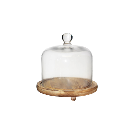 FROMAGE DOME WITH BASE 21X20CM