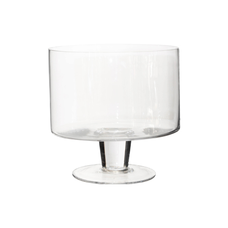 GLASS FTD BOWL 22X21CM