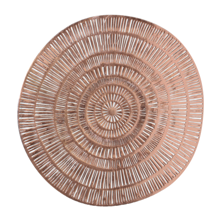 ROSE GOLD ROUND PLACEMAT 38CM
