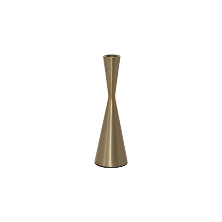 ECLIPSE GOLD CANDLE HOLDER 19CM