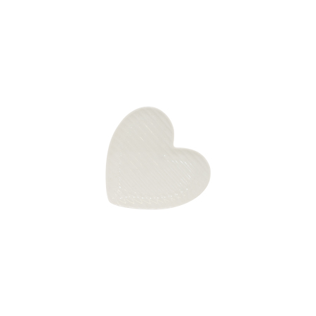 AMORE HEART PLATE 14X15CM