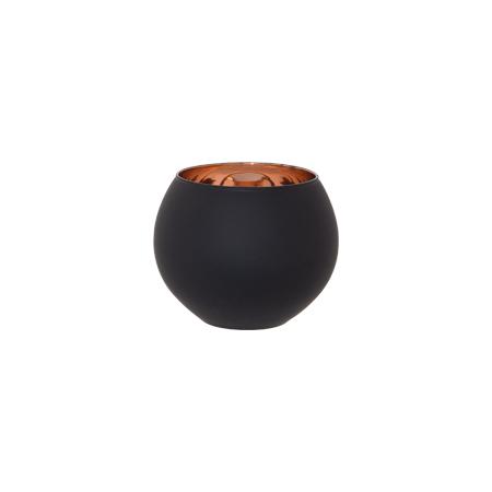 DAMASK VOTIVE 8.5CM BLACK/COPPER