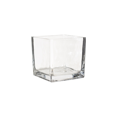 CLEAR GLASS CUBE 15X15X15CM
