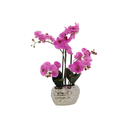 PINK ORCHID IN POT 58CM