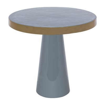 GREY/GOLD SIDE TABLE 43H 46D