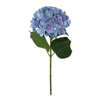 BLUE HYDRANGEA STEM 68CM