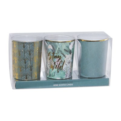 SCENTED CANDLE WILD MIXED SET/3