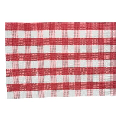 RED CHECK PLACEMAT 30X45CM